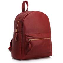 Műbőr hátizsák/iskolatáska - Burgundi