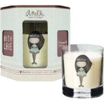 Anekke ajándék illatos gyertya, Dreams, átlátszó üvegben