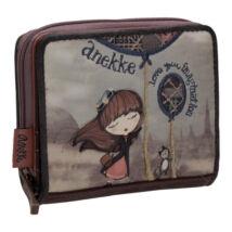 Miss Anekke mini, négyzetes, cipzáras pénztárca, 10x2,5x9cm