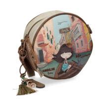 Anekke oldaltáska, kör alakú, Mini kollekció, Venice, 18x8x18 cm