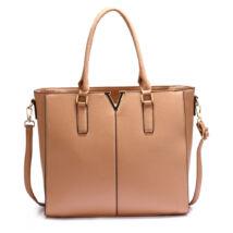 Bella divatos női táska Natúr