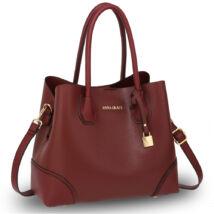 Valeria bevásárló táska- burgundy