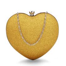 Szív alakú estélyi táska - arany