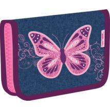 Belmil kihajtható tolltartó  Purple Flying Butterfly