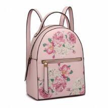 Virágos hátizsák - rózsaszín