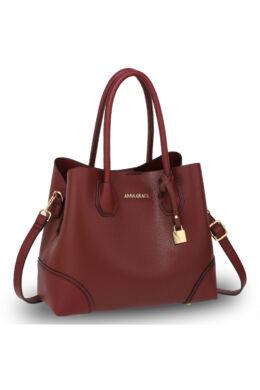 Valeria bevásárló táska-burgundy