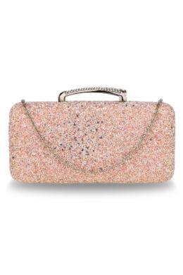 Sherry csillámló estélyi táska-pezsgő színű