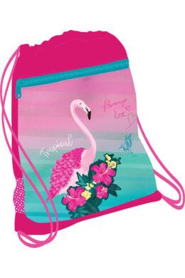 Belmil hálós és zsebes tornazsák 336-91, Pink Flamingo