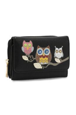 Anna Grace baglyos pénztárca-fekete