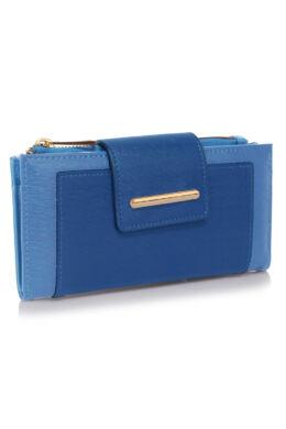 Csatos pénztárca Kék/égszínkék