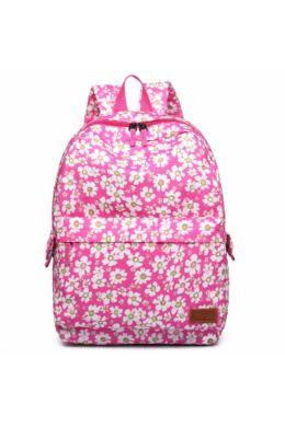 Virágos hátizsák E6609-rózsaszín