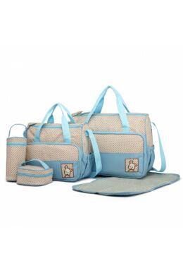 Pelenkázó táskakészlet 5 db-os-kék