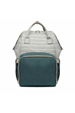 Több funkciós pelenkázó táska-zöld