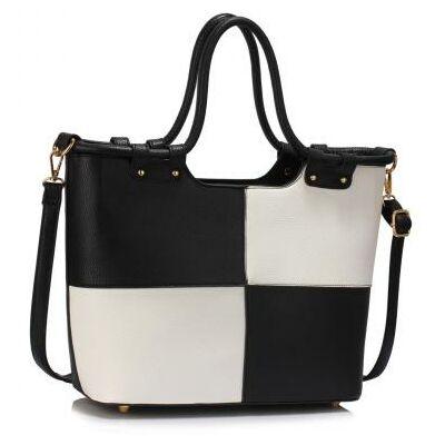 Bevásárló táska Fekete - Fehér