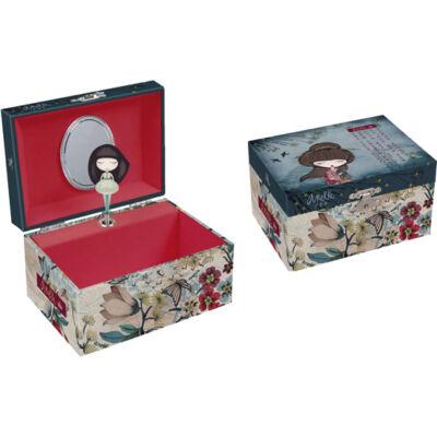 Anekke zenélő ékszeres doboz, Meraki, 15x10,5x8,4cm