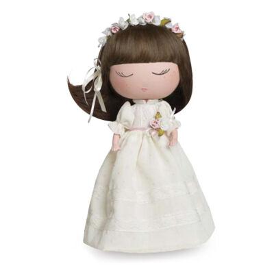 Anekke baba, menyasszony virágos fejdísszel, 32cm