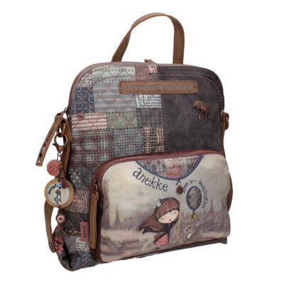 Miss Anekke normál méretű, két rekeszes hátizsák, 28x12x30cm