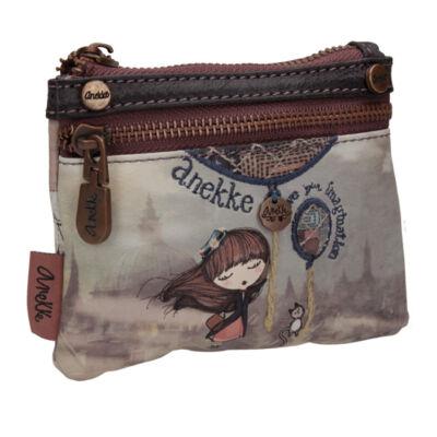 Miss Anekke két rekeszes, mini pénztárca, 14x1x10cm