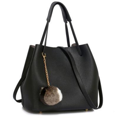 Lisa bevásárlótáska - Fekete