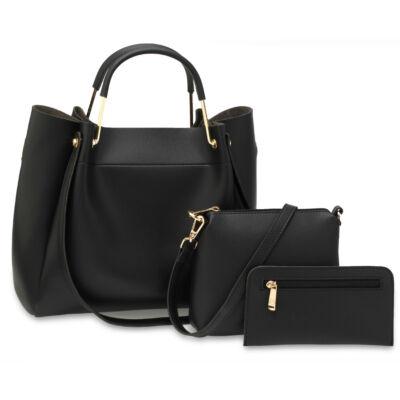 Nina 3 részes táskaszett - fekete