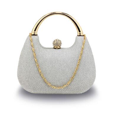 Crystal különleges alkalmi táska - ezüst