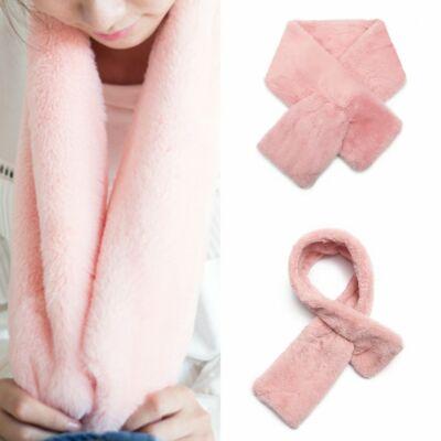 Plüss női sál - rózsaszín