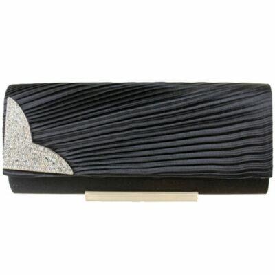 Emese L1113 alkalmi táska - fekete