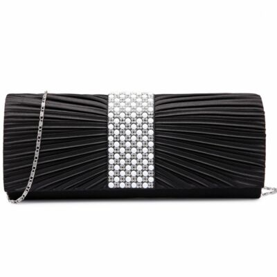 Marilyn LY6683 szatén estélyi táska - fekete
