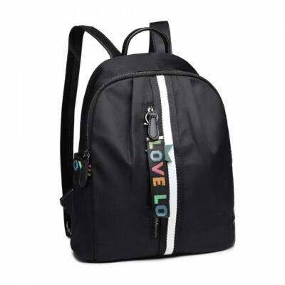 LOVE vízlepergető hátizsák LG630-fekete