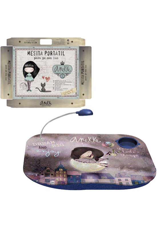 Anekke mobil laptoptartó, Ballerina, beépített lámpával, 48x39cm