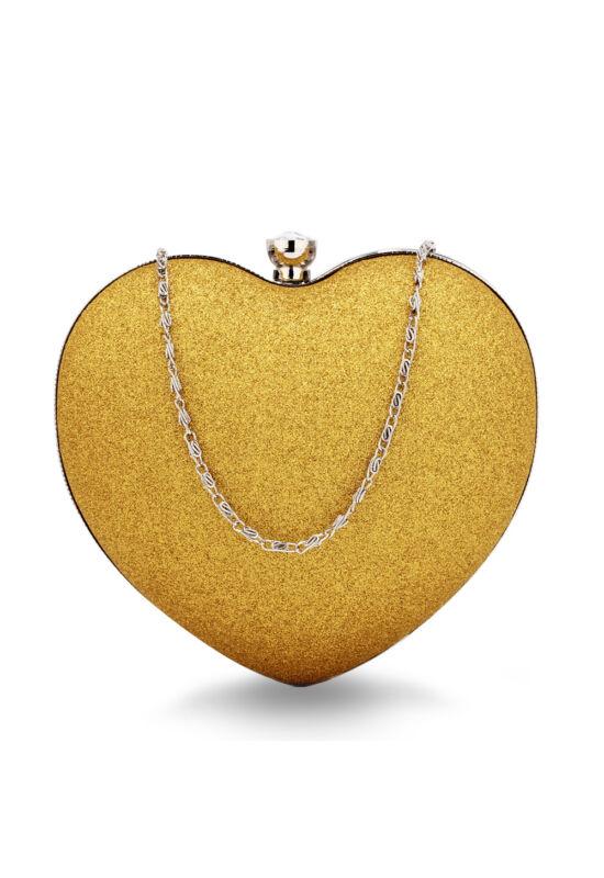 Szív alakú estélyi táska-arany