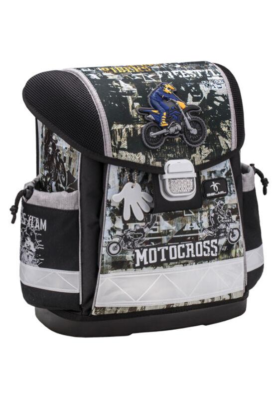 Classy-Motocross merev falú iskolatáska