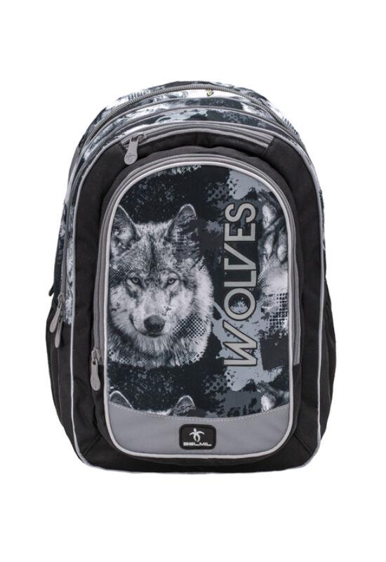 Belmil-The Spacious Wolves Grey iskolatáska