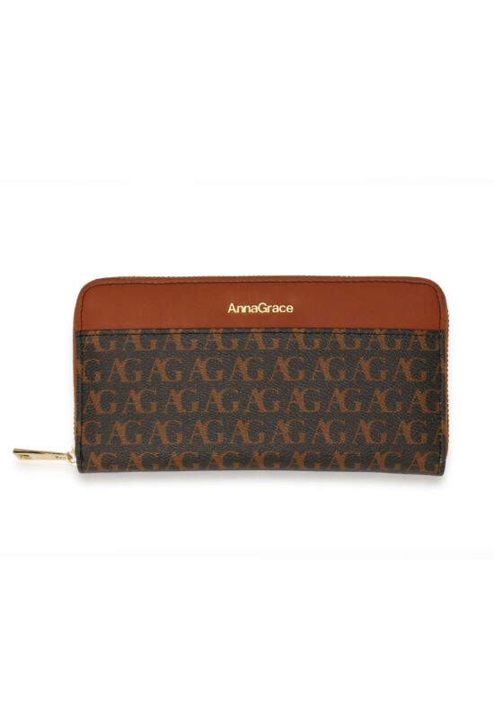 AG cipzáras női pénztárca-fekete