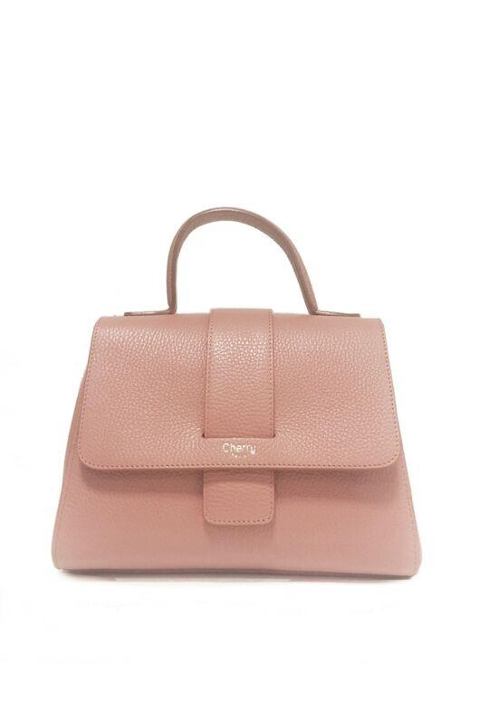 Amalia bőr kézitáska - pink